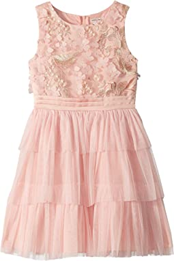 Novelty Embroidered Tiered Dress (Little Kids/Big Kids)