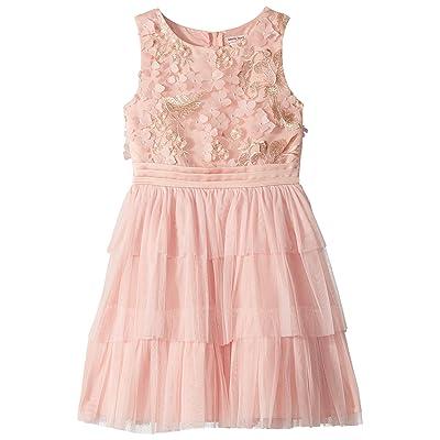 Nanette Lepore Kids Novelty Embroidered Tiered Dress (Little Kids/Big Kids) (Peach) Girl