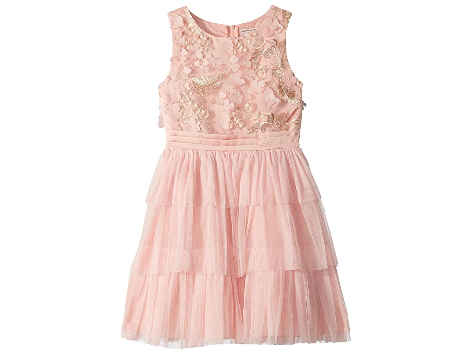 Nanette Lepore Kids Novelty Embroidered Tiered Dress (Little Kids/Big Kids) (Peach) Girl