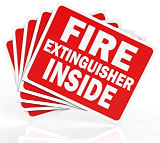 Fire Extinguisher Inside Sticker Sign - Safety Signs - 5 Pack - 4