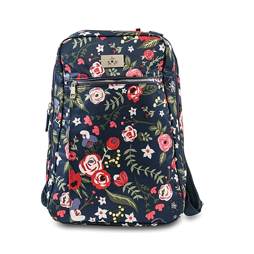 JuJuBe Diaper Bag with Changing Pad | Multi-Functional, Ballad Backpack, Limited Edition | Midnight Posy, One Size