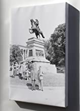 Canvas 24x36; Group Of People Gathered In Front Of An Equestrian Statue Of Jose De San Martin, Washington, Dc. Nara 199871