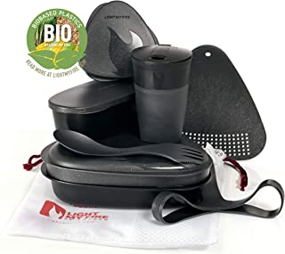 Light My Fire 8-Piece MealKit BIO Camping Mess Kit with Cup, Bowl, Plate, Spork and Storage Containers