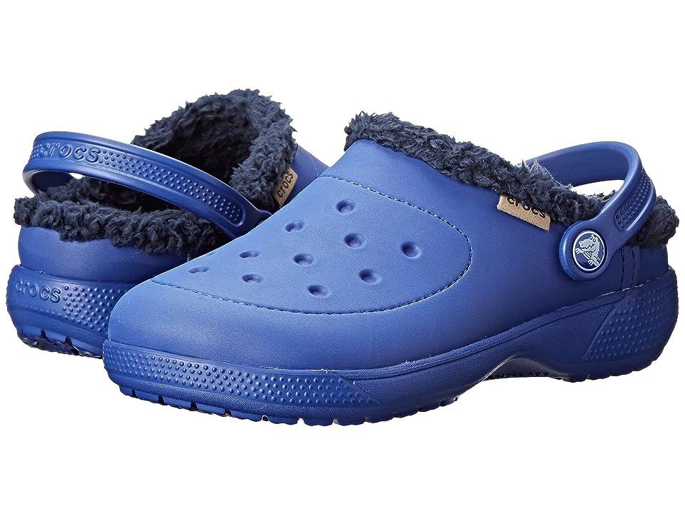Crocs Kids Wrap Colorlite Lines Clog (Toddler/Little Kid) (Cerulean Blue/Navy) Kids Shoes