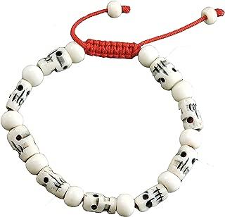 yak bone skull bracelet