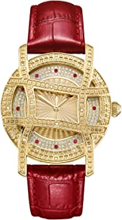 JBW Womens Quartz Watch, Analog Display and Leather Strap J6377E