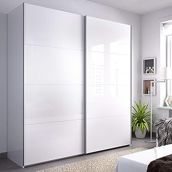 HABITMOBEL Vestidor con Armario Dormitorio Puertas correderas, Medidas 280cm (Largo) x 204cm (Alto) x 50cm (Fondo): Amazon.es: Hogar