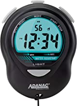 ADANAC Glow by Marathon Digital Stopwatch Timer with Back Light. Extra Large Display with Jumbo Numbers - Battery Included