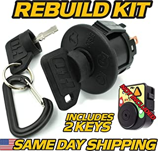 Cub Cadet/MTD 725-06119A, 925-06119A Key Switch ONLY - 2 Key & Free Carabiner - HD Switch