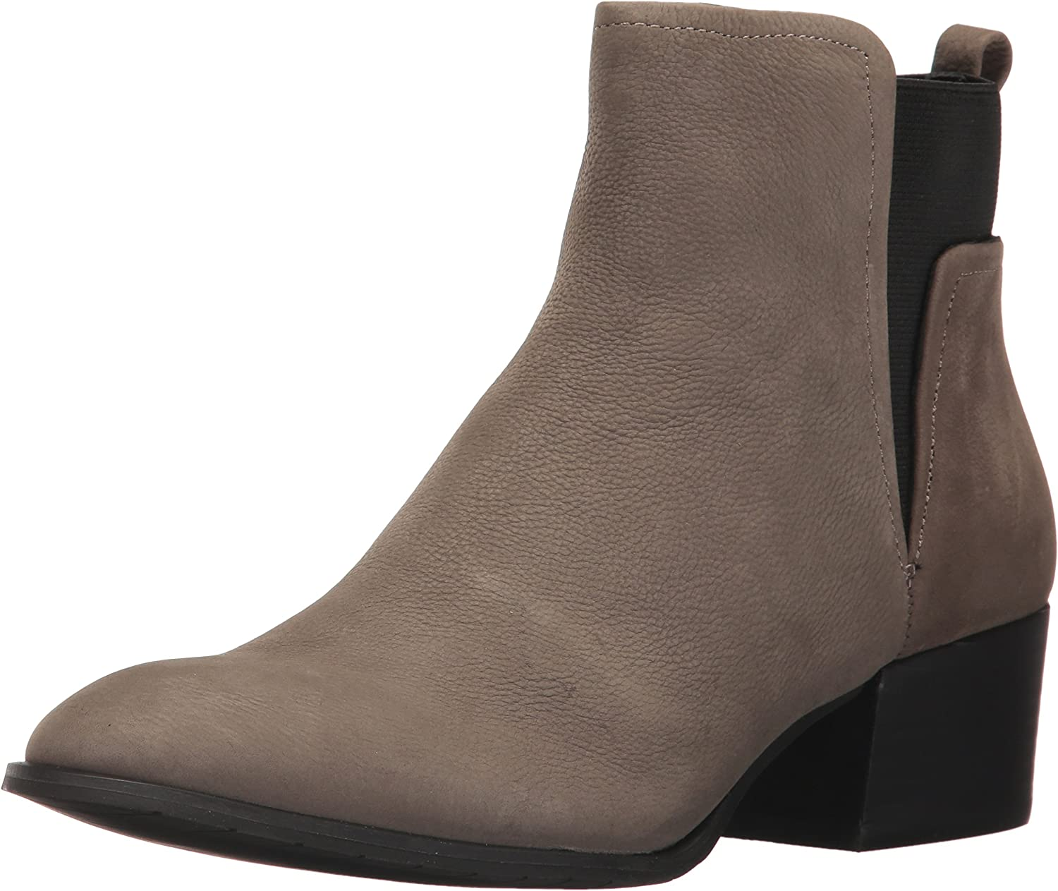 Kenneth Cole New York Womens Artie Pull on Ankle Bootie Low Heel Nubuck Ankle Bootie