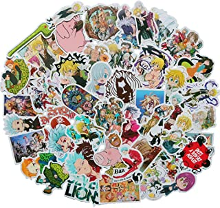 The Seven Deadly Sins Japanese Anime Stickers Boy and Girl Sticker Laptop Computer Bedroom Wardrobe Car Skateboard Motorcy...