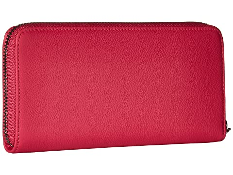 Lipault Paris Plume Elegance Leather Zip Around Wallet Tahiti Pink Clearance Free Shipping VK8hT9Y