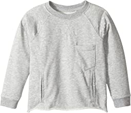 Hudson Kids - Raglan Shirt French Terry Pullover w/ Grinding and Destruction (Toddler/Little Kids/Big Kids)