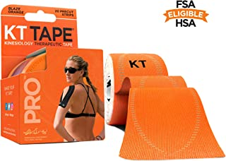 """Best KT Tape Pro Synthetic Kinesiology Therapeutic Sports Tape, 20 Precut, 10"""" Strips Review"""