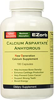 Ezorb Calcium 180 Capsules for Bone, Joint, Muscle Health