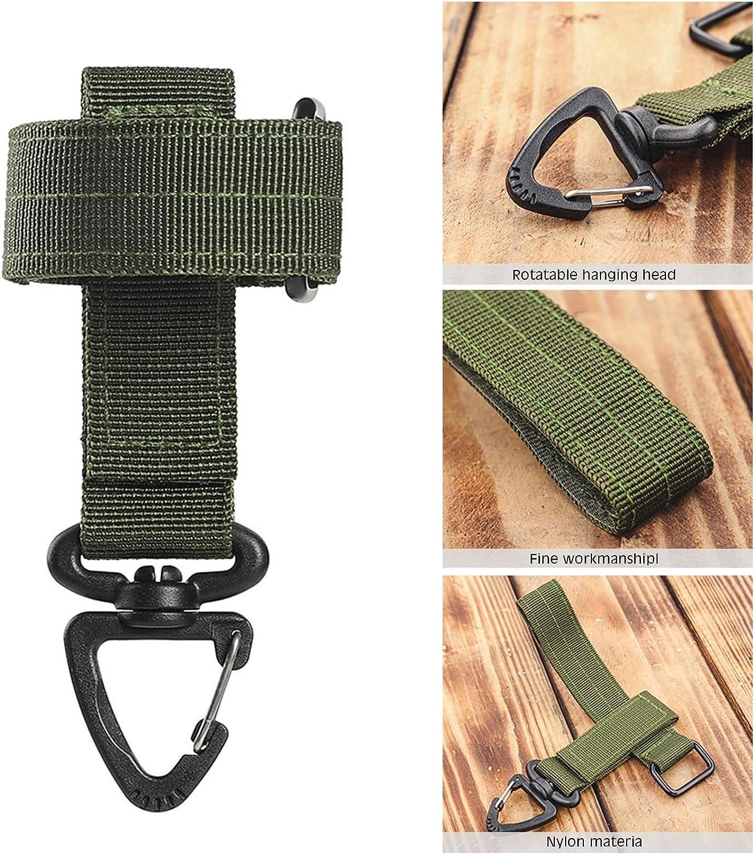 herramientas de actividad al aire libre metagio Gancho para llaves de nailon para colgar en el cintur/ón con mosquet/ón multifunci/ón de nailon para senderismo
