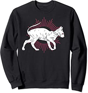 Sphynx White Cat Owner Hairless Cats Fun Meme Gift Kitten Sweatshirt