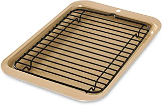 Nordic Ware 42210 Toaster Oven 2-Piece Broiler, Metalic Gold