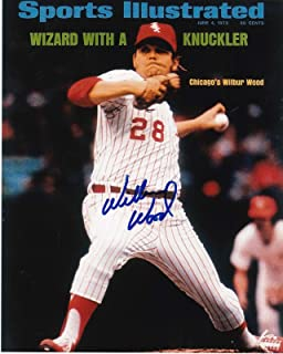 Signed Wilbur Wood Photograph - SPORTS ILLUSTRATED COVER 8x10 - Autographed MLB Photos