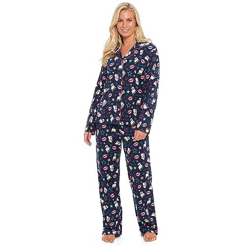 Slumber Hut® Ladies 100% Winceyette Cotton Pyjamas - Brushed Flannel Wincy  Womens Buttoned Collar ccd8aca9c