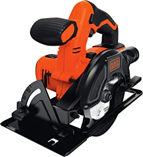 BLACK+DECKER 18 V Cordless Circular Electric Saw, 140 mm Blade and Dust Extraction, Battery not included, BDCCS18N-XJ