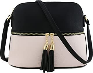 Tassel Zipper Pocket Crossbody Bag