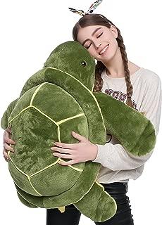 DOLDOA Big Plush Eyes Sea Turtle Stuffed Animal Tortoise Toys for Children Girlfriend (33 inch)