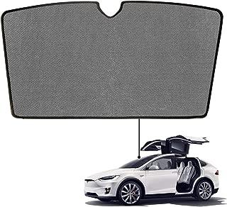 BMZX Model X Car Sunroof Rear Windshield Shade Foldable Sunshade Heat Isolate Sunshade Above The 1st Row