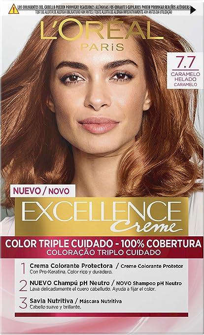 lOreal Paris Excellence Coloración Crème Triple Protección, 7.7 H.Brown 550