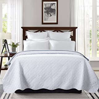Best white scalloped bedspread Reviews