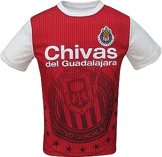 Junior Boys CD Guadalajara Chivas Official Soccer Club Crew Neck Short Sleeve Jersey T Shirt Top