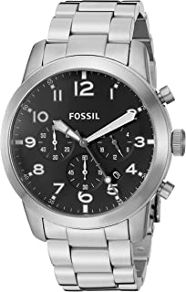Fossil Pilot Watch For Men Analog Stainless Steel Band Fs5141, Quartz