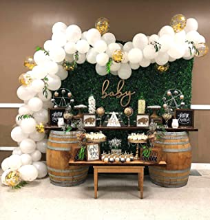 Balloon Garland Arch Kit 16Ft Long White And Gold Latex Balloons Pack For Baby Shower Weeding