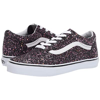 Vans Kids Old Skool (Little Kid/Big Kid) ((Glitter Stars) Black/True White) Girls Shoes