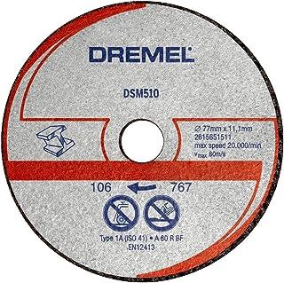 comprar comparacion Dremel DSM510 - Discos de corte abrasivo, juego de 3 accesorios para sierra circular con 20 mm de profundidad para herrami...
