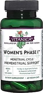 Sponsored Ad - Vitanica Women's Phase I, Premenstrual Support, Vegan, 60 Capsules