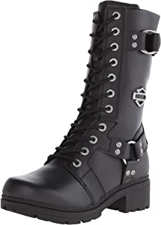 e8a33d506caabc Harley-Davidson Women s Eda 9-Inch Boots. Inside Zipper. Lace Front.