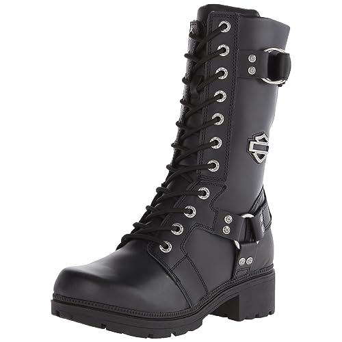 95ee9ea8e983 Harley-Davidson Women s Eda 9-Inch Boots. Inside Zipper. Lace Front.