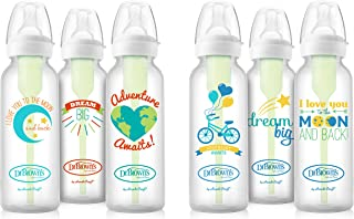 Dr. Brown's Options Baby Bottles, 8 ounce, Adventure/Love/Dream Designs, 6 count
