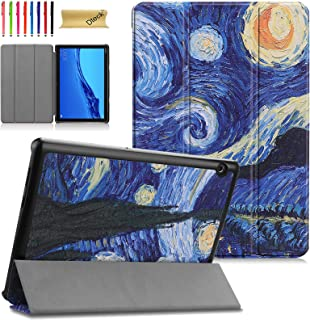 Case for Huawei MediaPad T5 10 - Dteck Lightweight Folio Tri-Fold Case Multiple Viewing Stand Hard Back Protective Cover f...