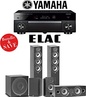 Elac F5.2 Debut 2.0 5.1-Ch Home Theater Speaker System Yamaha AVENTAGE RX-A1080 7.2-Channel 4K Network AV Receiver