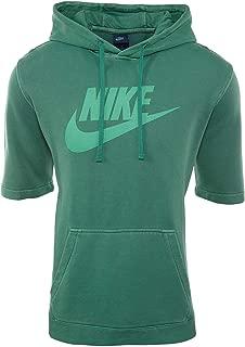 white nike short sleeve hoodie