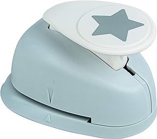 Rayher Hobby 89793000 Motivstanzer Stern, ø 2,54 cm- 1 Zoll, geeignet für Papier/Karton bis zu 200g/m²