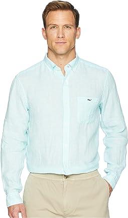 Cooper's Town Stripe Classic Linen Tucker Shirt