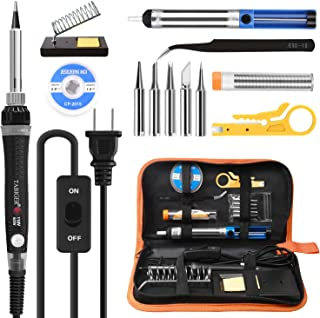 Tabiger Soldering Iron kit with Adjustable Temp 200-450°C and ON/OFF