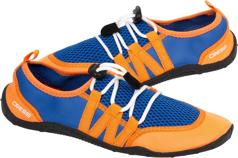 Cressi Unisex's Elba Pool Shoes Water, Royal Blue/Orange, 6.5 UK