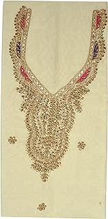 Rajasthani Gota Patti Work Design Chanderi Silk Kurtis Unstitched 2.3 Meter
