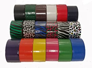 Bazic 7.53448E+11 18 Roll Variety Pack Print and Solid (Brights and Regular Colors) of All Purpose Duct Tape