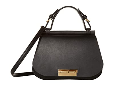 ZAC Zac Posen Chantalle Satchel Solid (Black) Handbags