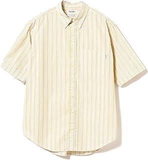 [ビームスライツ] GYMPHLEX ジムフレックス ワイシャツ 半袖シャツ ビッグシルエット ストライプ ボタンダウンシャツ<br> メンズ